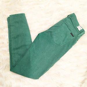 NWOT Hudson green skinny jeans
